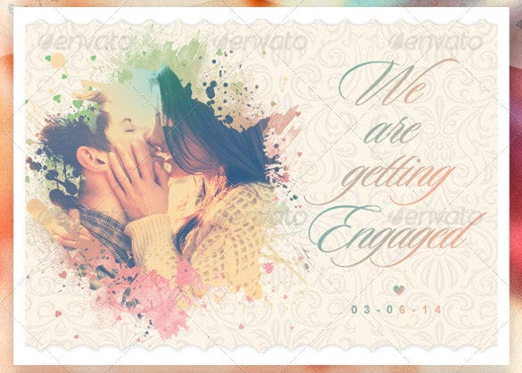 creative engagement wedding card template premium download