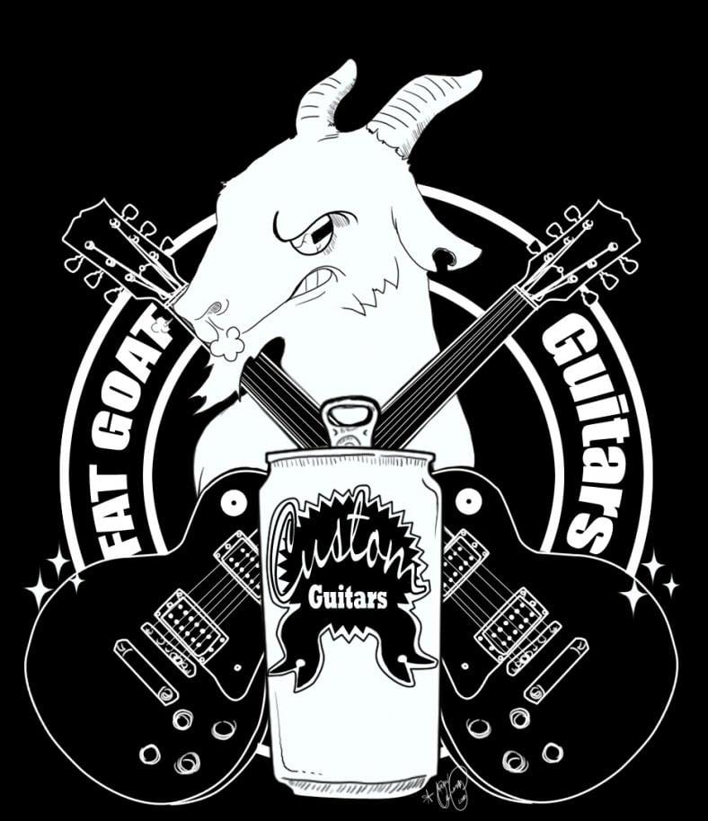 angry goat guitar logo design 788x914