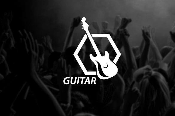 guitar logo template download