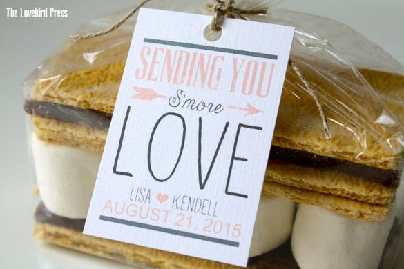 smore wedding favor tags template