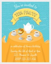 Tea Party Invitation for All