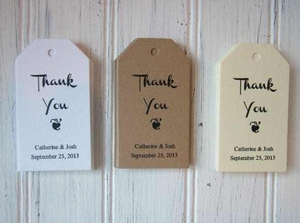 Wedding Thank You Gift Tags Template : 24+ Favor Tag Templates Free Sample, Example Format Download ...