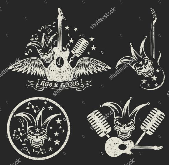 grunge set guitar logo