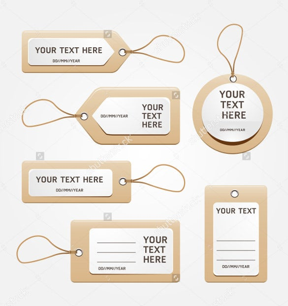 Favor Tag Templates  Free Sample Example Format Download