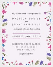 Download Watercolor Flowers Printable Wedding Invitation