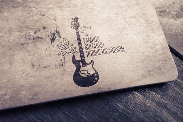 printable guitar logo template download