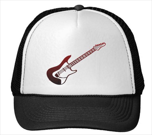guitar logo on cap