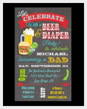 Beer and Diaper Baby Shower-for-Dad