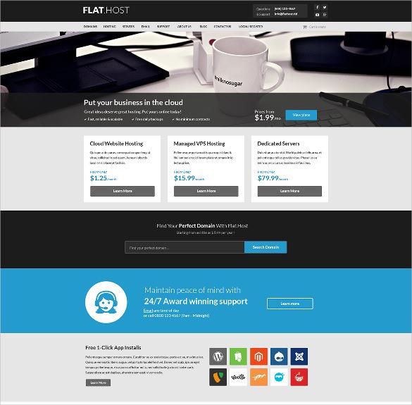 web hosting psd template