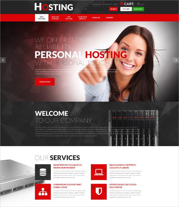 progressive hosting psd template