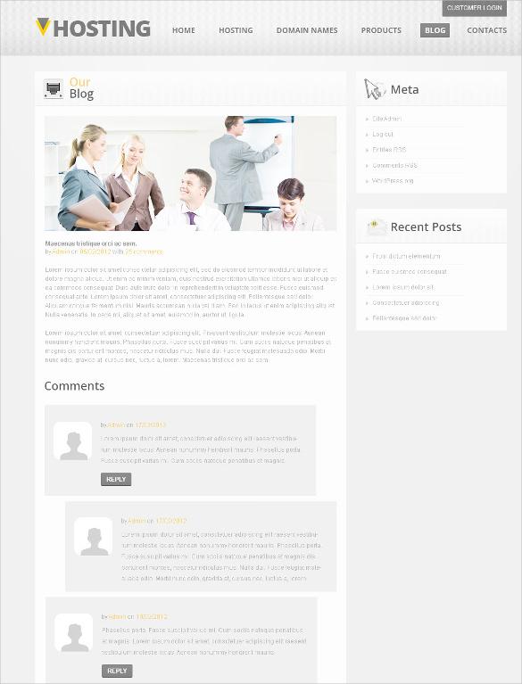 medical hosting psd template