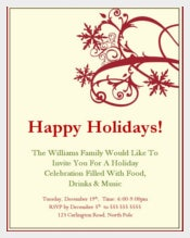 Holiday Invitation Free Download