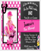 Minnie Mouse Birthday Invitation with FREE Thank You Card