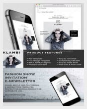 Fashion Show Email Invitation-Template