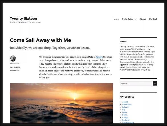 impressive free wordpress template