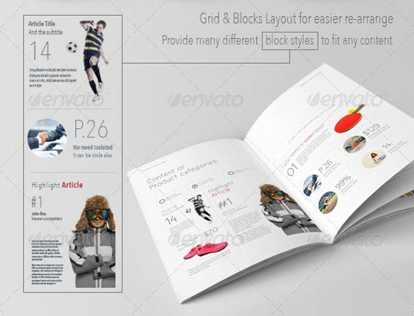 PSD Catalogue Template PSD Illustrator EPS Indesign - Product brochure templates free download