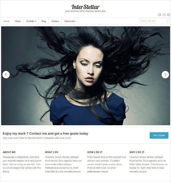 free multiple portfolio wordpress template
