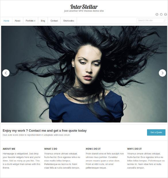 free multiple portfolio wordpress template