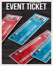 Christmas Ticket Invitation