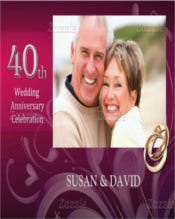 Pink 40th Wedding Anniversary Invitation