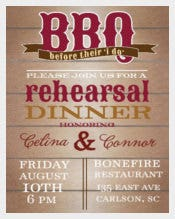 BBQ Rehearsal Dinner Invitations