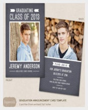 Senior Graduation Announcement Template for Chalkboard Chevron