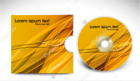 golden cd cover design template presentation