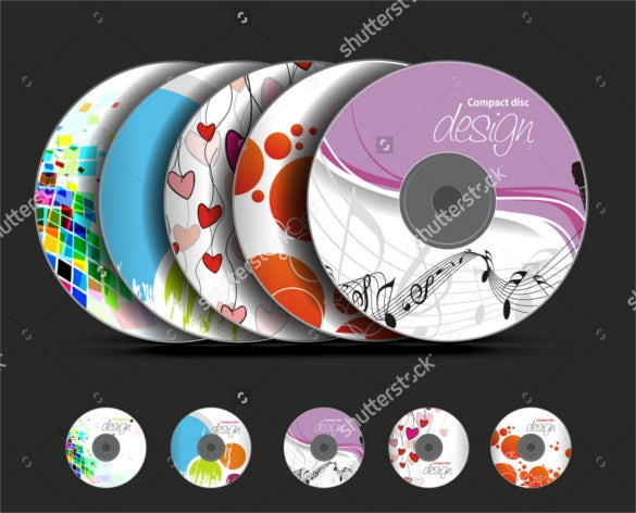 eps vector cd cover design template download