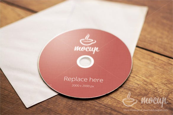 high quality cd dvd cover mockup template