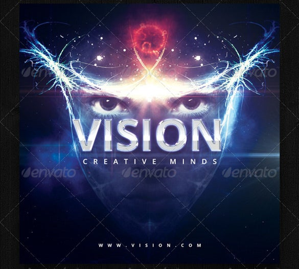 vision cd cover psd design