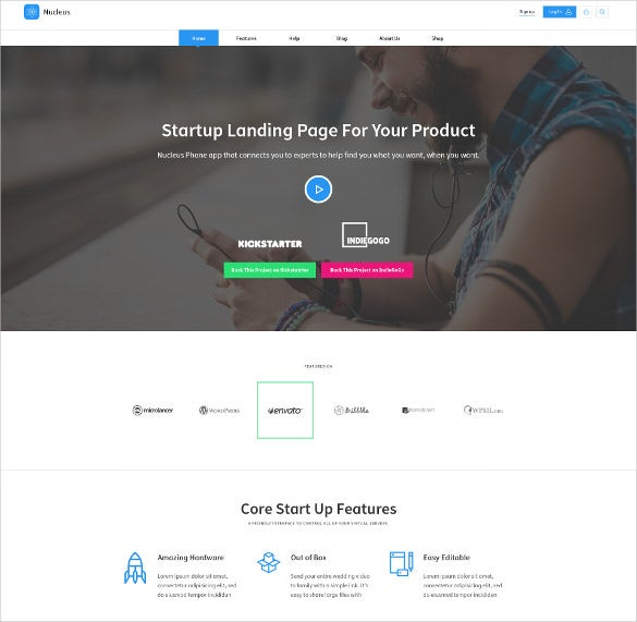 multi purpose technology hosting psd template