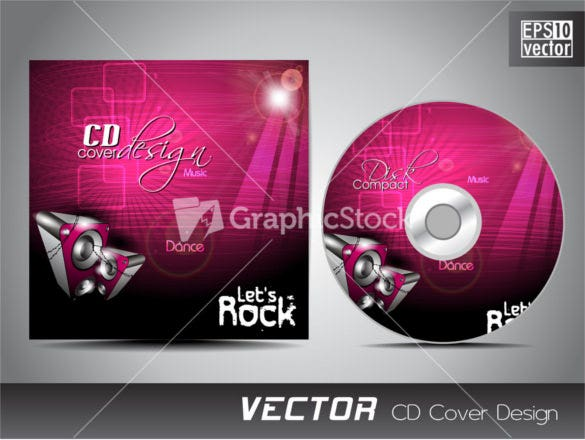 cd cover presentation design template eps format