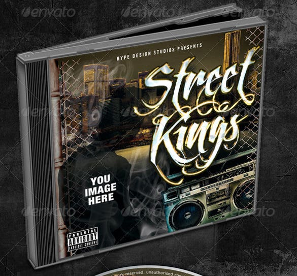 street kings mixtape cd template psd format