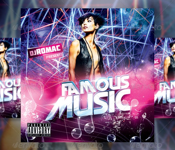 famous music cd cover psd download