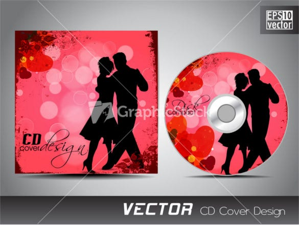 space and love concept cd cover template
