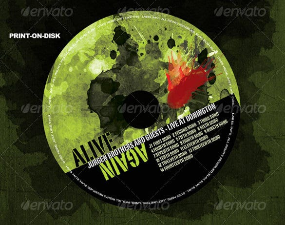cd cover template psd design download