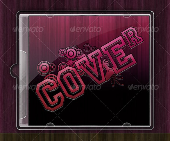 glossy cd cover template psd layered download