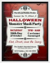 Halloween Monster MashParty Invitation