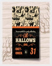 Vintage Hand DrawnHalloween Invitation