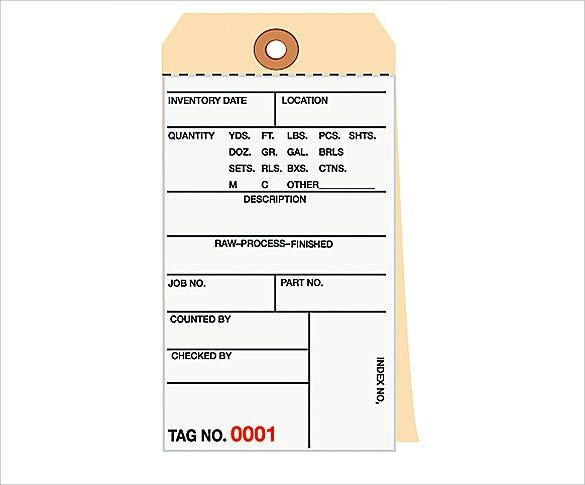 accurate perforated inventory tags template