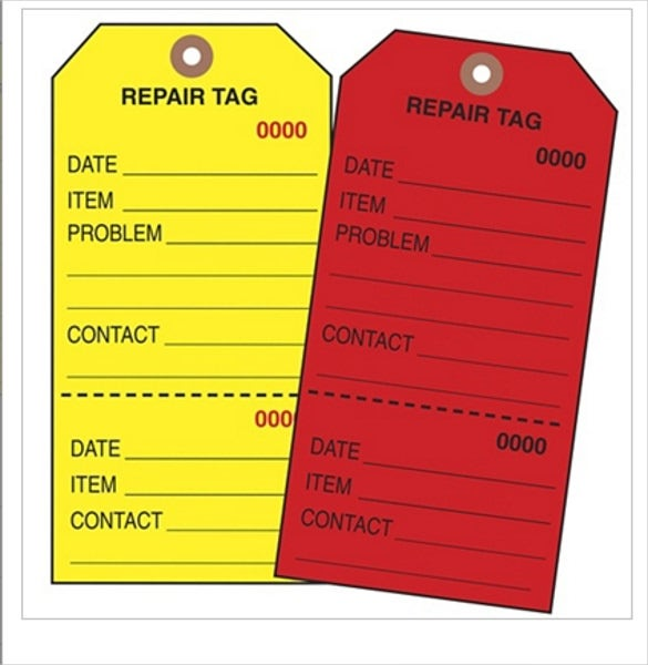 repair inventory tags template download