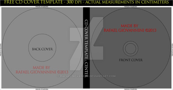free cd cover template download