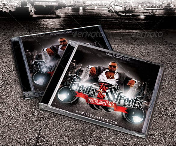 beats for the streets cd cover template download