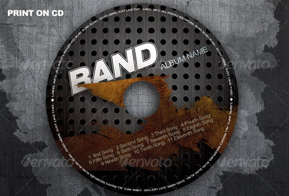cd cover template editable psd layered download