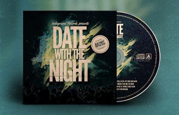 Alternative CD Album Artwork Template PSD Design