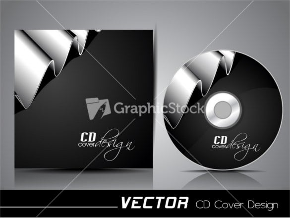 free silver ribbon cd cover template download