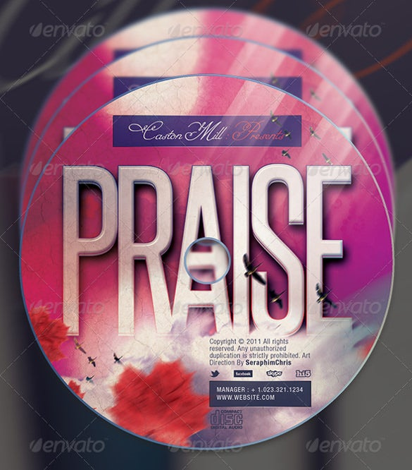 download praise gospel cd cover artwork template