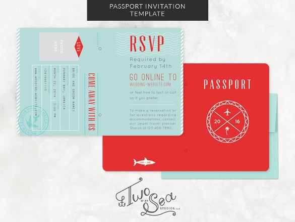 passport wedding invitation template1