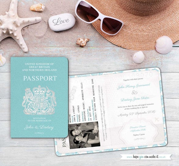 passport wedding invites sample invitation and rsvp boarding card1