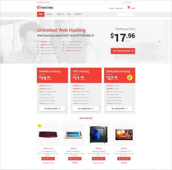 unlimited hosting virtuemart template